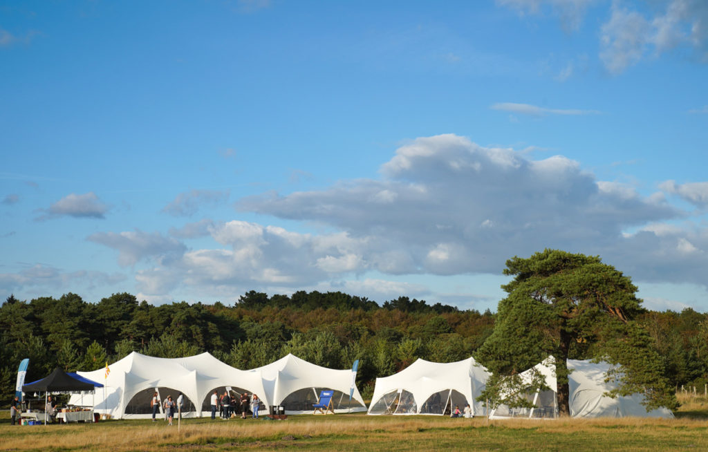 Comms Unplugged marquees