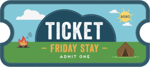CU20 Friday stay ticket