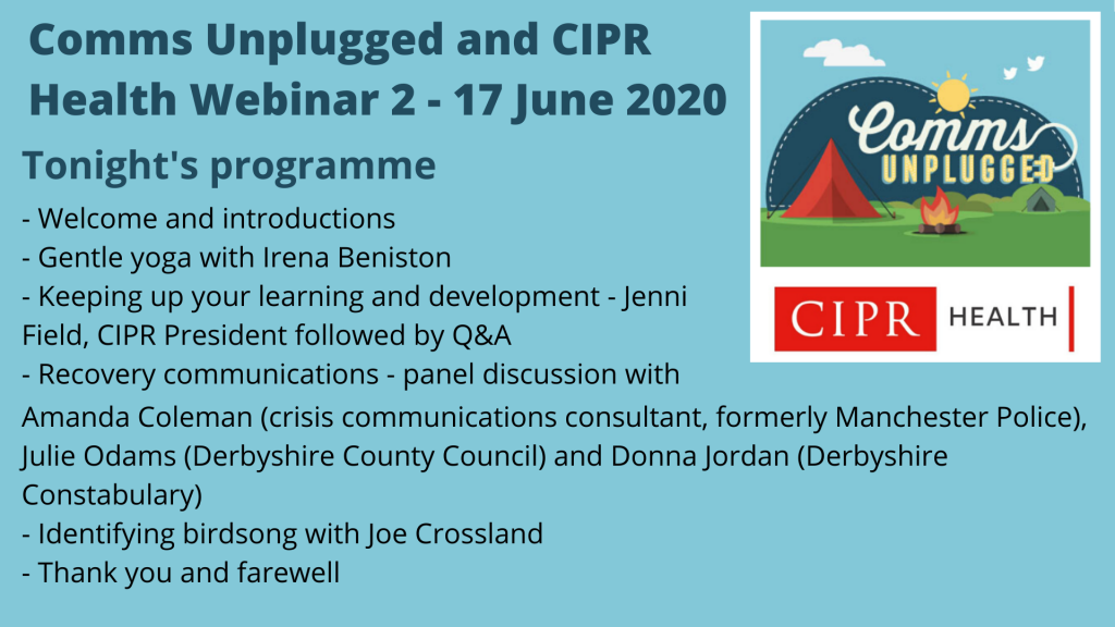 CU-CIPR webinar 2 programme