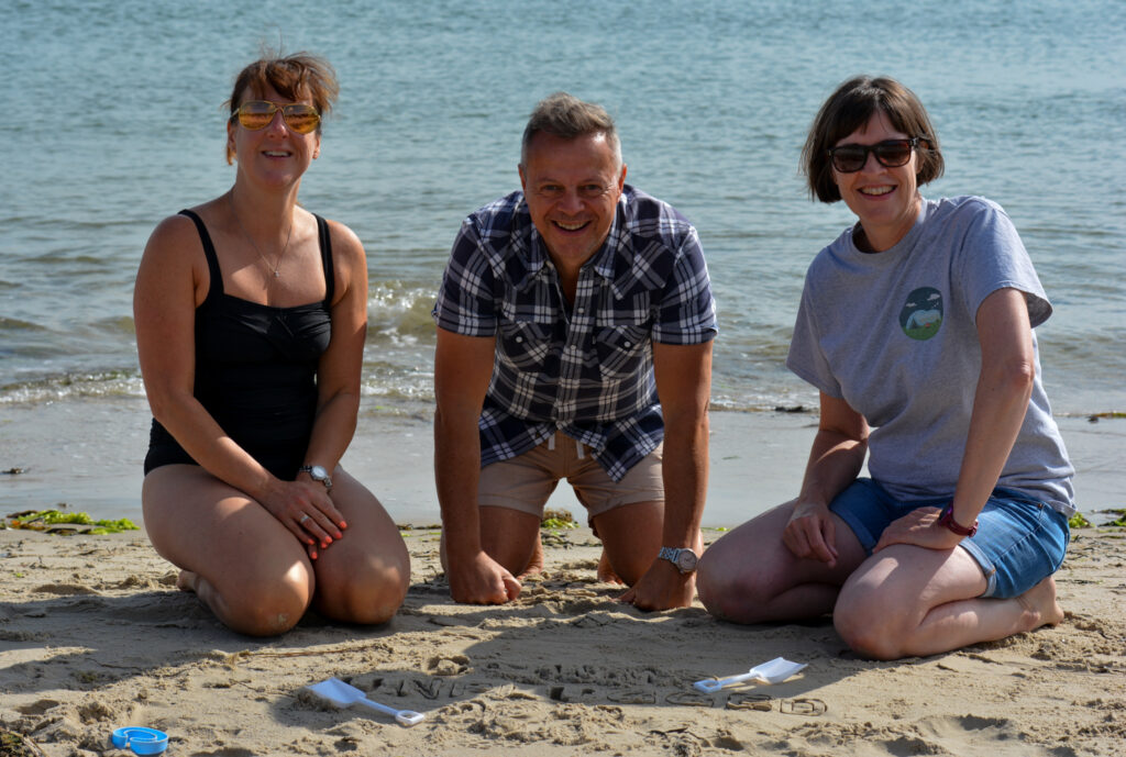 CU21 team unplugged at the beach